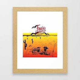 Fear and Loathing in Las Vegas- Desert Framed Art Print