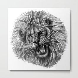 Lion roar G141 Metal Print