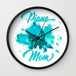 Grand Piano Mom Keyboard Clavier Pianist Gift Wall Clock