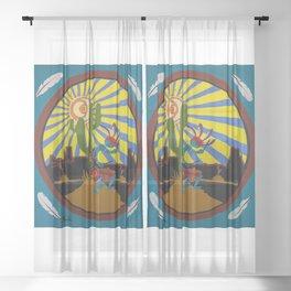 Kokopelli #3 Sheer Curtain