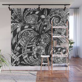 Drawing Floral Zentangle G6 Wall Mural