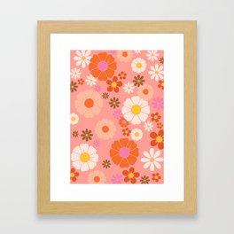 Groovy 60's Mod Flower Power Framed Art Print