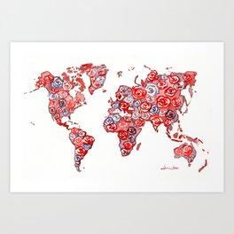 World of Roses Art Print