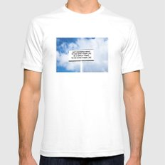 NOTKNOWING pt 2 Mens Fitted Tee SMALL White