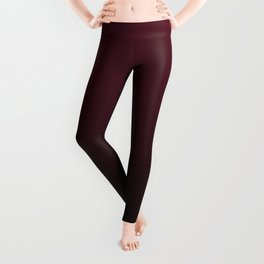 Burgundy Wine Ombre Gradient Leggings