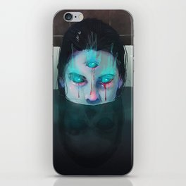 Demon in Bathtub iPhone Skin