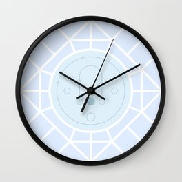 Pastel Universe Blue Abstract Moon Geometry Wall Clock