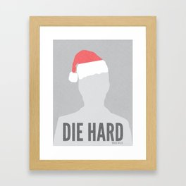 Die Hard Minimalist Poster Framed Art Print