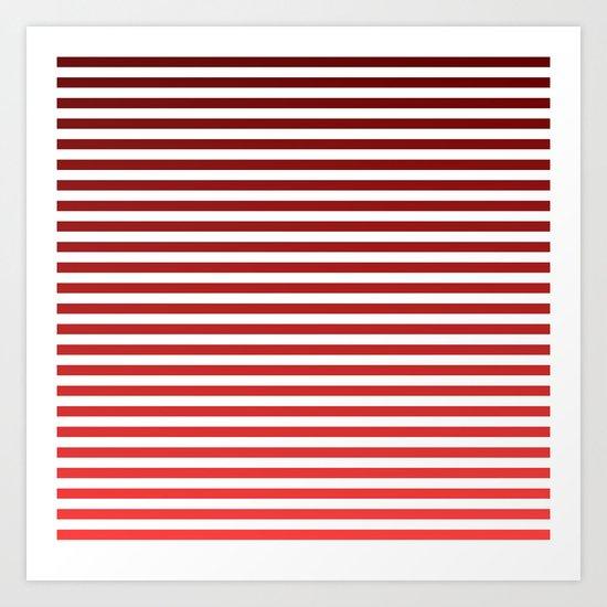 Beach Blanket - Red Gradient Art Print