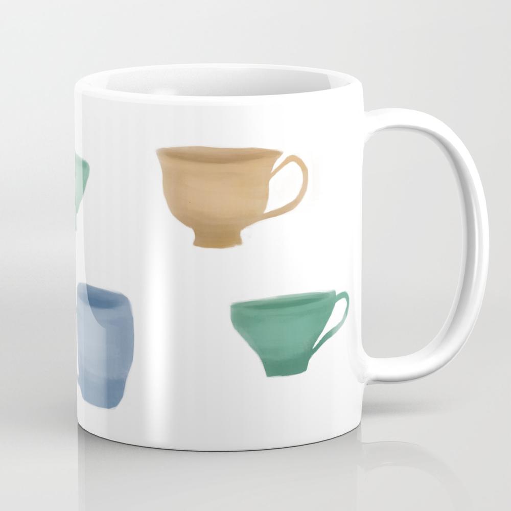 Colorful Tea Cups And Coffee Tea Cups Tea Cup by Foxgloveandivy MUG7931374