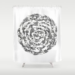 swimming in circles Shower Curtain