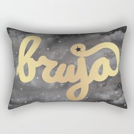 La Bruja Vibes in Gold Rectangular Pillow