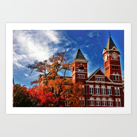 Samford Hall in the Fall Art Print
