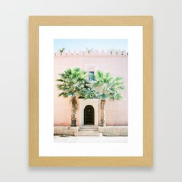 """Travel photography print """"Magical Marrakech"""" photo art made in Morocco. Pastel colored. Framed Art Print"""