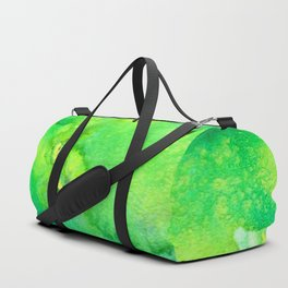 Green and Yellow Abstract Duffle Bag