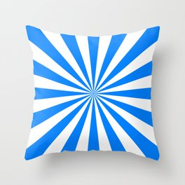 Starburst (Azure/White) Throw Pillow