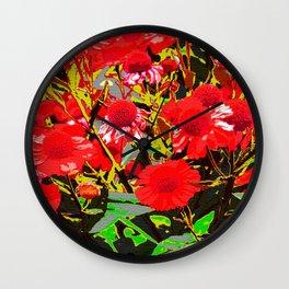 Red flowers garden Wall Clock