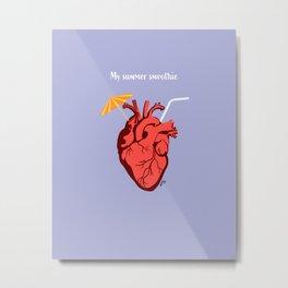 Heart Smoothie Metal Print