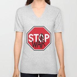 Stop War Unisex V-Neck