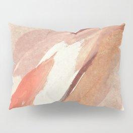 Aly: minimal | pinks | white | black | mixed media | abstract | ink | watercolor | wall art Pillow Sham