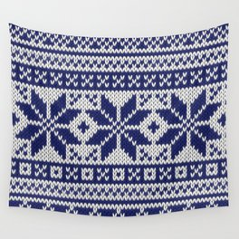 Winter knitted pattern 5 Wall Tapestry