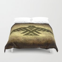 Symbol of the Anishinaabe, Ojibwe (Chippewa) on  parchment Duvet Cover