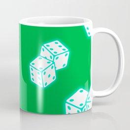 Two game dices neon light design Coffee Mug