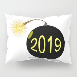 Cartoon 2019 New Year Bomb Pillow Sham