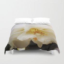 White Camellia Duvet Cover