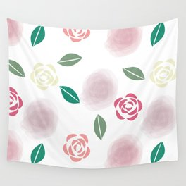 Abstract Roses Wall Tapestry