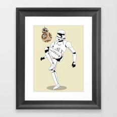 Droid Soccer Framed Art Print
