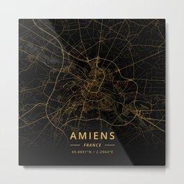Amiens, France - Gold Metal Print