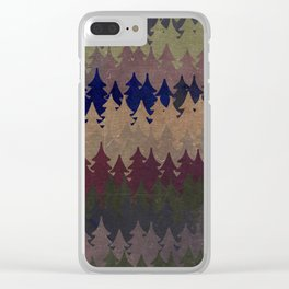 The secret forest at late afternoon- Dark tree pattern #Society6 Clear iPhone Case