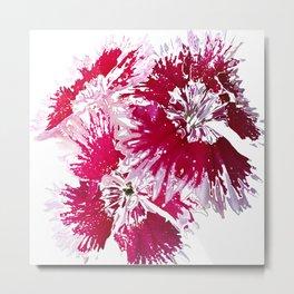 Pink White Sketch Metal Print