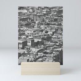 Cityview Medina Fés, Morocco. Black and White Fine Art Travel Print. Wall Art. Mini Art Print
