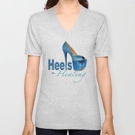 Heels for Healing Unisex V-Neck