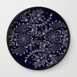 Vintage Floral Elements IV Wall Clock