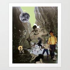 Dancing Cave Art Print