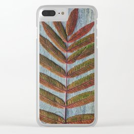 Fall Leaves Still Life Clear iPhone Case