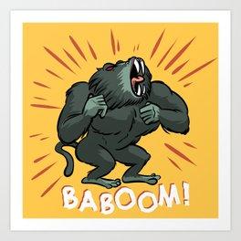 Baboom! Art Print