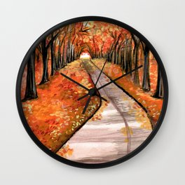 Leaves, Please. Wall Clock