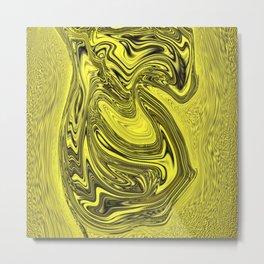 Flowing Liquid Gold Metal Print