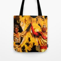 carnival Tote Bags featuring Carnival by Trevor Jolley