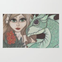 Fairy and Dragon Rug