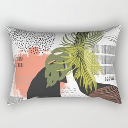Nature abstract with linear strokes Rectangular Pillow