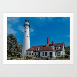 Wind Point Lighthouse 2 Art Print
