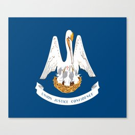 Flag of Louisiana -Louisianian,south, jazz,blues,french, new orleans, baton rouge,usa,america,us Canvas Print