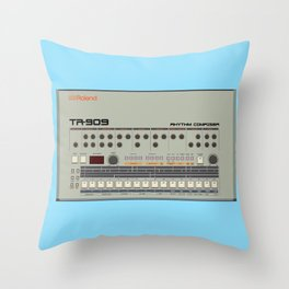 909 Square Throw Pillow