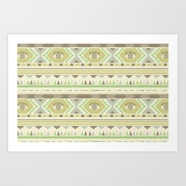 Aztec Eye Art Print