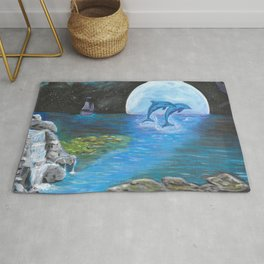 Moon light swim Rug